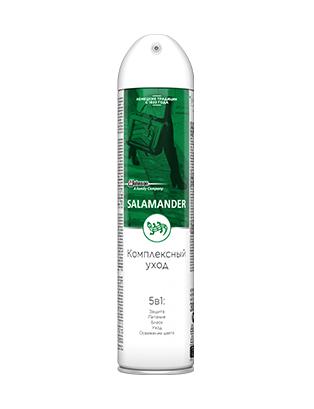 SALAMANDER® Аэрозоль «Комплексный уход: 5 в 1» уход для кожи, замши и текстиля